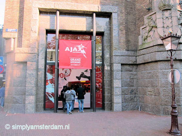 Ajax exhibition @ Rembrandtplein, closed 2013