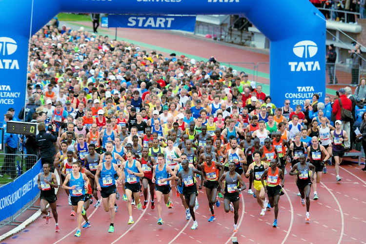 40th Amsterdam Marathon starts with 45,000 runners