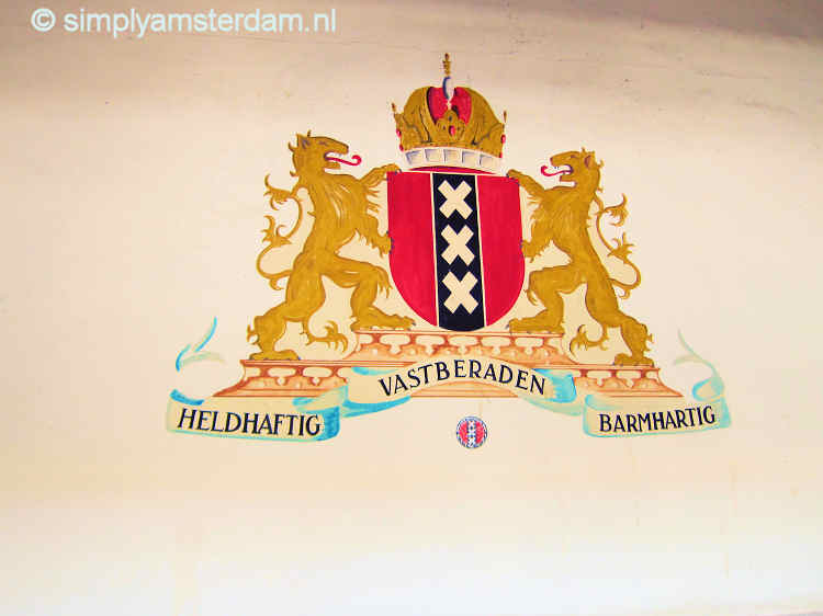 Amsterdam coat of arms, with 3 saltires