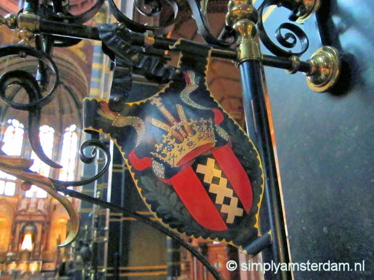 Amsterdam coat of arms in Sint Nicolaas church
