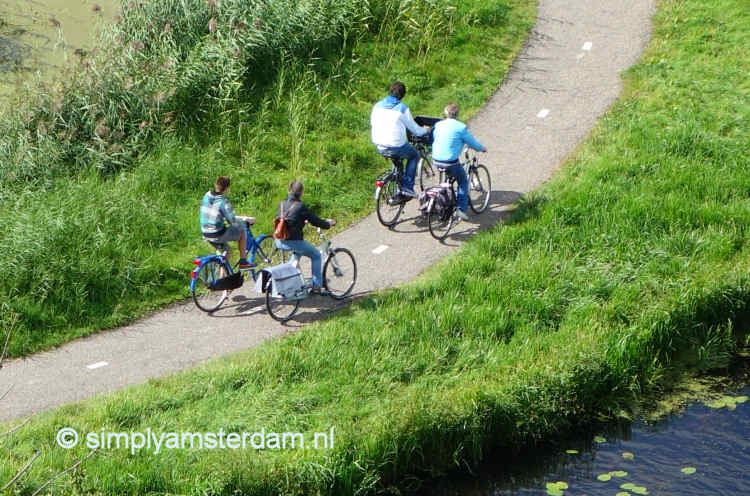 Cycling in Amsterdam North