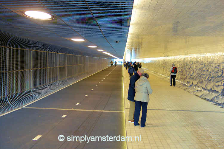 Light at the end of the bicycle tunnel (Amsterdam Central Station)