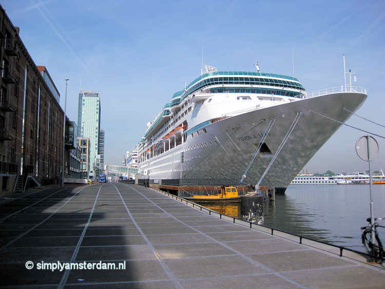 Cruise ship moored at PTA