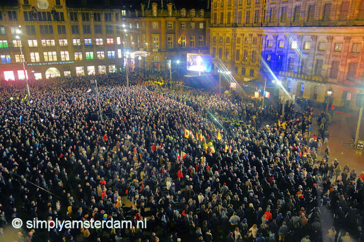 18,000 attend demonstration for Charlie Hebdo in Amsterdam