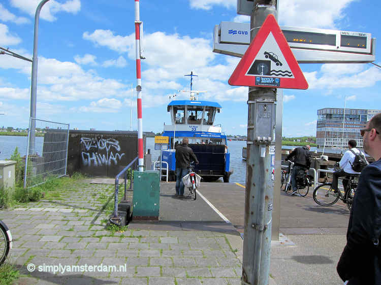 Ferries to Amsterdam North from Central Station