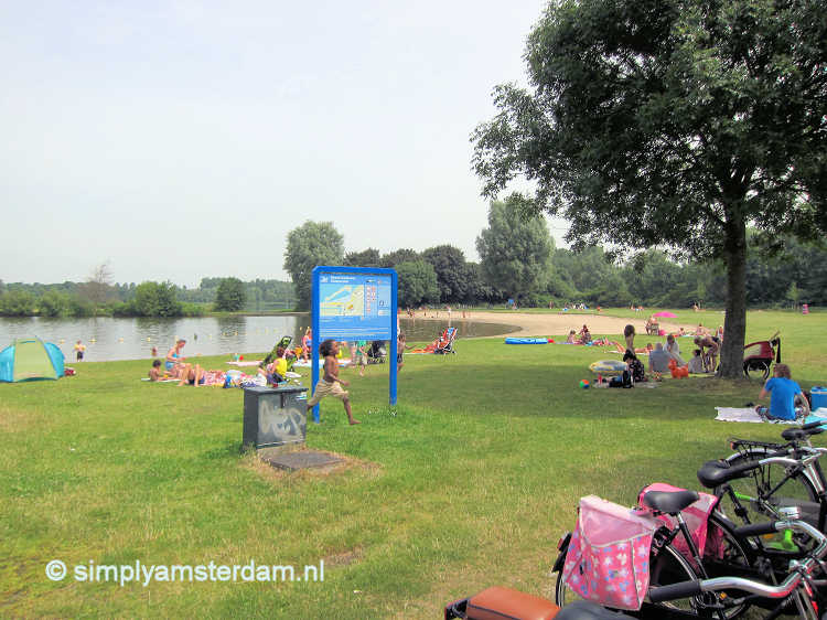 Gaasperplas beach