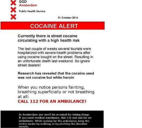 Amsterdam health department warns against fake cocaine
