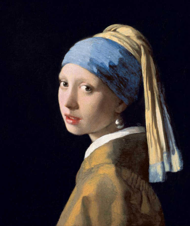 Girl with a pearl earring, by Vermeer