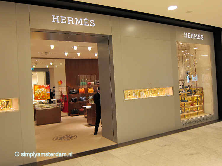 Hermès store in Bijenkorf department store