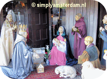 Religious protest against gay nativity scene in Amsterdam gay bar