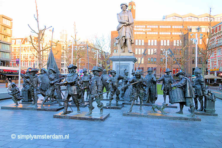 Nightwatch group on Rembrandtplein