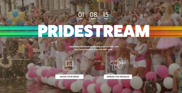 Live stream from boat in Amsterdam Canal Pride tour 2015