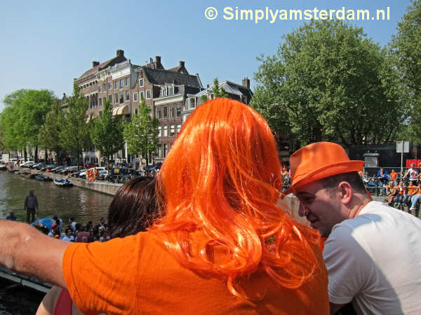Orange is the prime colour on Queensday