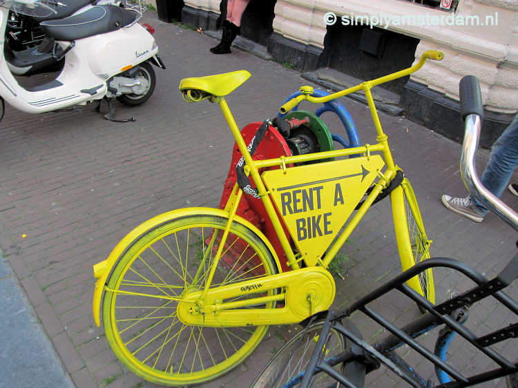Bicycle rental companies in Amsterdam
