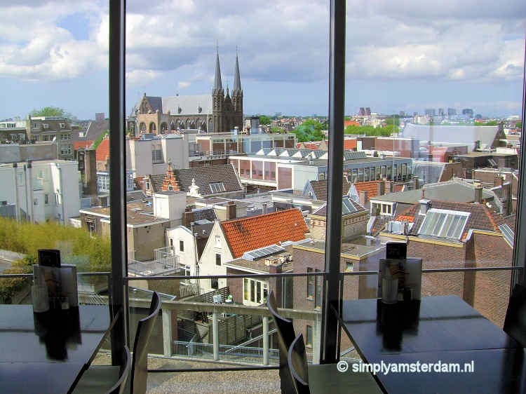 Lunch with a view from the top of Kalvertoren