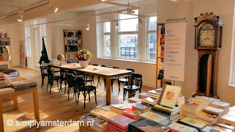 Scheltema book store, one of the reading tables