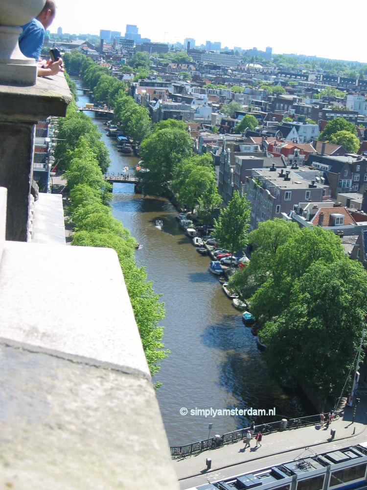 View from Westerkerk tower over Jordaan